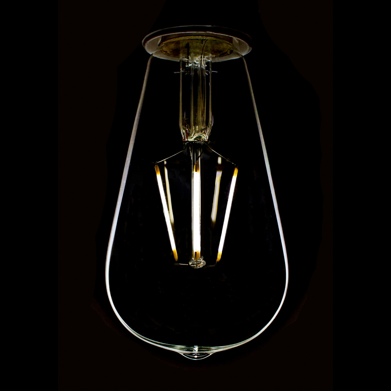 led filament squirrel cage light bulb st64