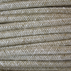 Cloth covered wire. Braided fabric lighting cable in a rough spun finish. Round 3 core flex