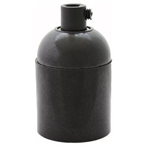 bakelite E27 lamp holder plain without shade ring