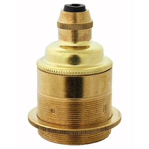 polished brass bulb holder e27 with shade ring