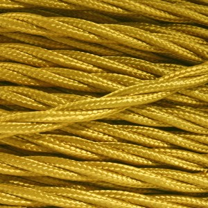 gold fabric lighting cable 3 core twist black fabric lighting