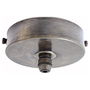 Multiple drop ceiling rose with 1 to 8 outlets in brushed antique finish