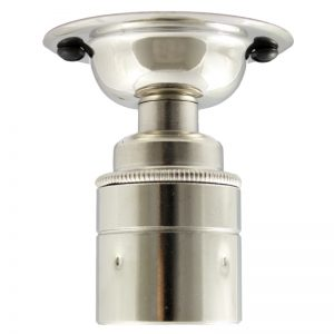 ES brass fixed ceiling and wall light in nickel finish