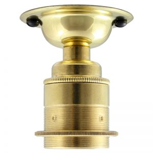 ES brass fixed ceiling and wall light in polished brass finish